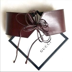 Authentic Gucci Tie Waist Belt